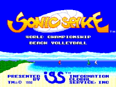 Sonic Spike - World Championship Beach Volleyball (USA)